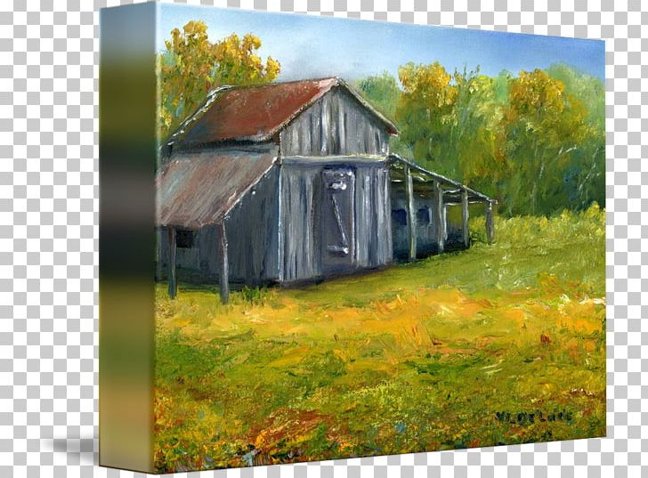 Watercolor old barn clipart graphic transparent download Oil Painting Work Of Art Watercolor Painting PNG, Clipart ... graphic transparent download