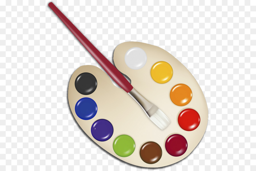 Watercolor palette clipart free graphic library stock Paint Brush Cartoon png download - 585*600 - Free ... graphic library stock