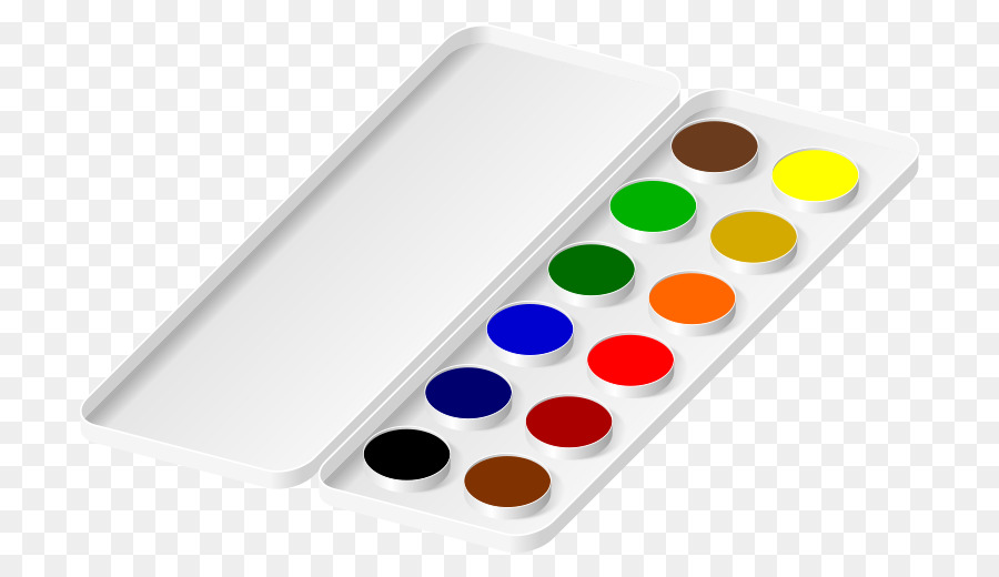 Watercolor palette clipart free jpg free download Watercolor Drawing png download - 800*520 - Free Transparent ... jpg free download