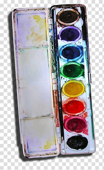 Watercolor pallet clipart picture black and white Palette Watercolor painting Paper Crayon Paintbrush ... picture black and white