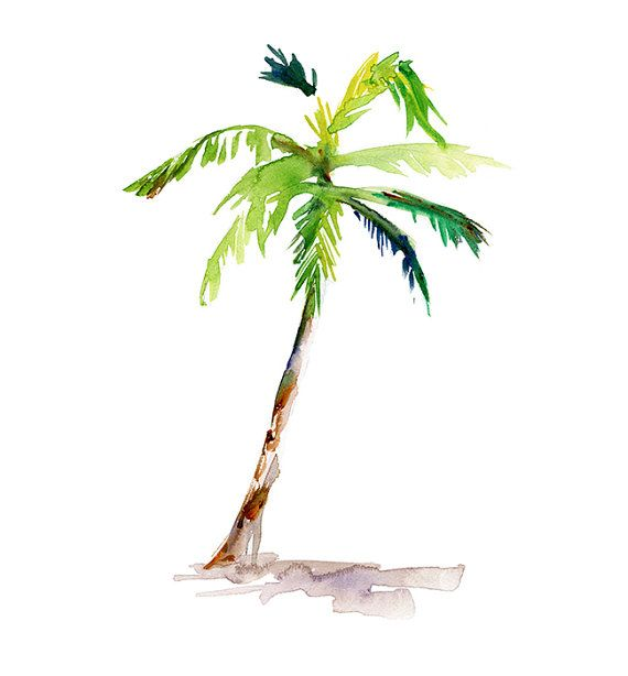 Watercolor palm tree clipart vector free download Palmtree ARt - Watercolor Painting - ARt Print - Wall Decor ... vector free download