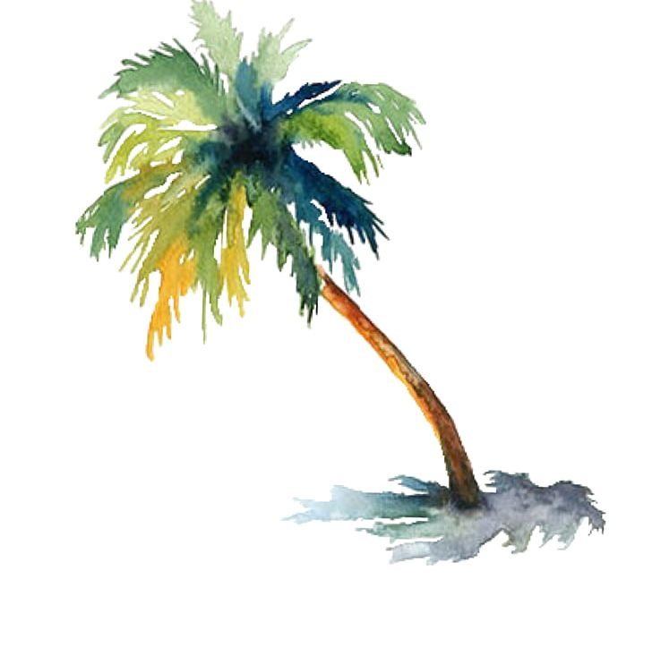 Watercolor palm tree clipart graphic library download Watercolor Painting Arecaceae Drawing Tree PNG, Clipart ... graphic library download