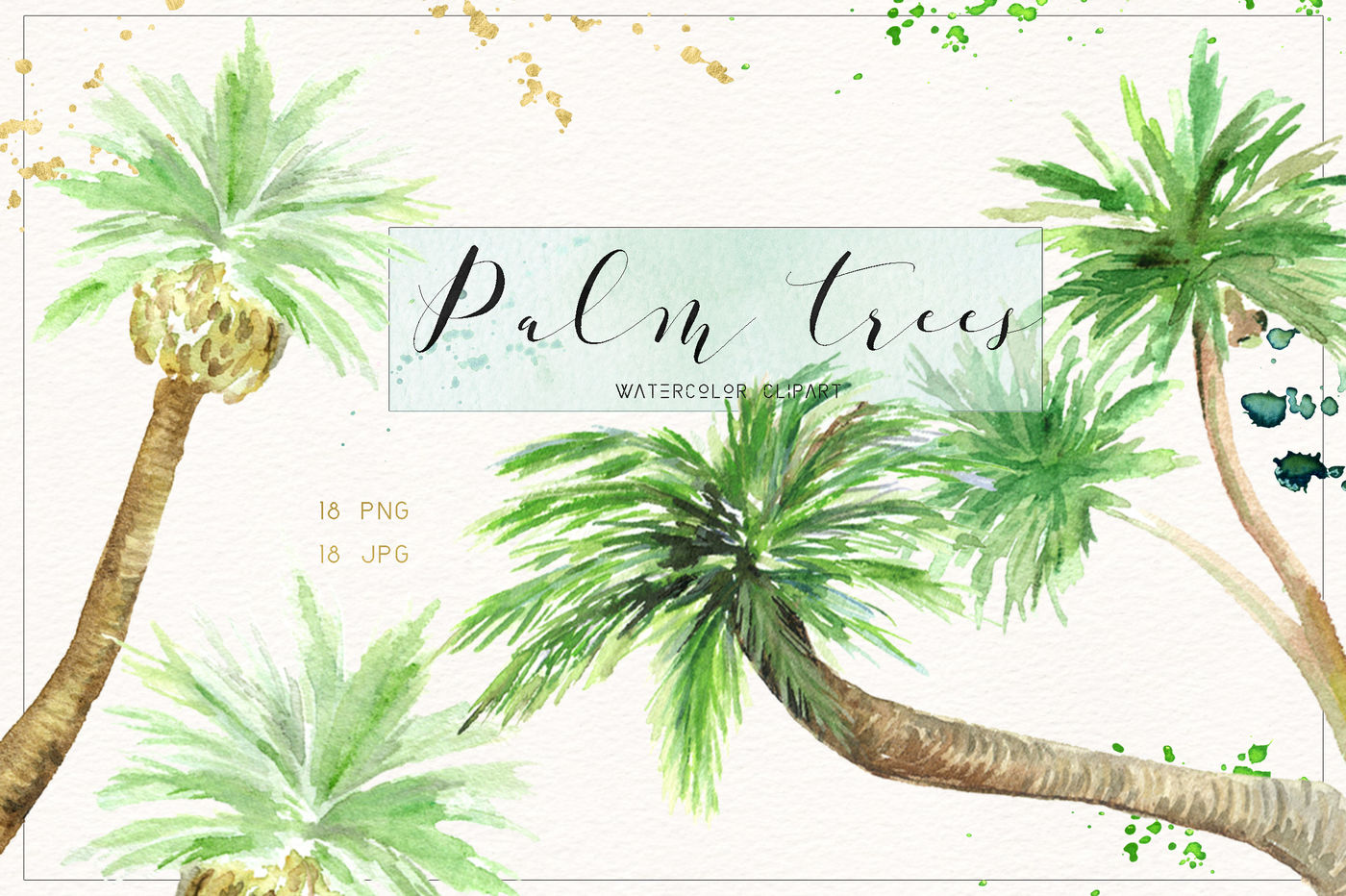 Watercolor palm tree clipart png stock Palm tree. Watercolor clipart. By LABFcreations ... png stock