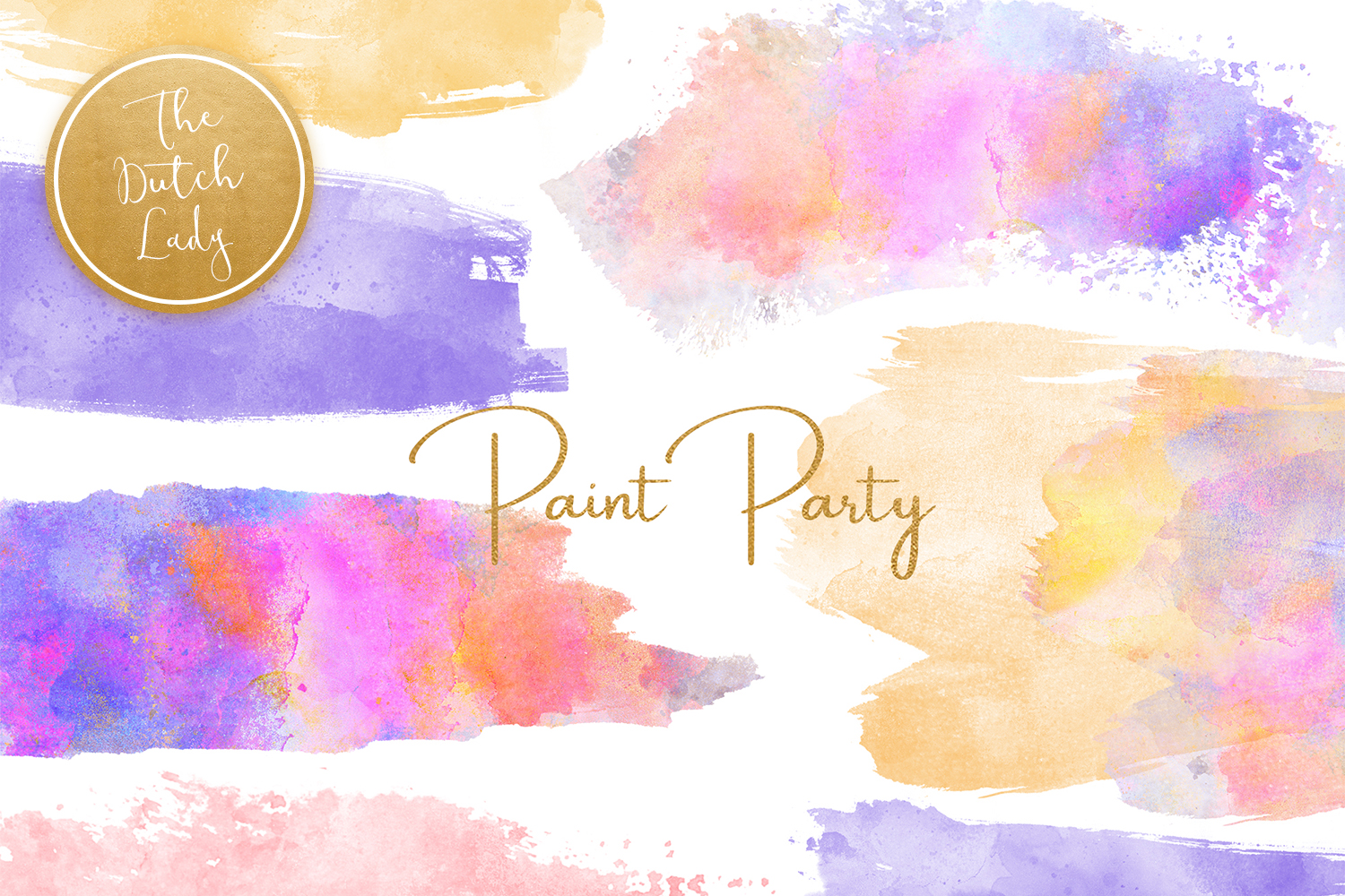 Watercolor party clipart picture freeuse stock Watercolor Paint Party Clipart - Vsual picture freeuse stock