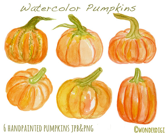 Watercolor pumpkin clipart - ClipartFest png royalty free