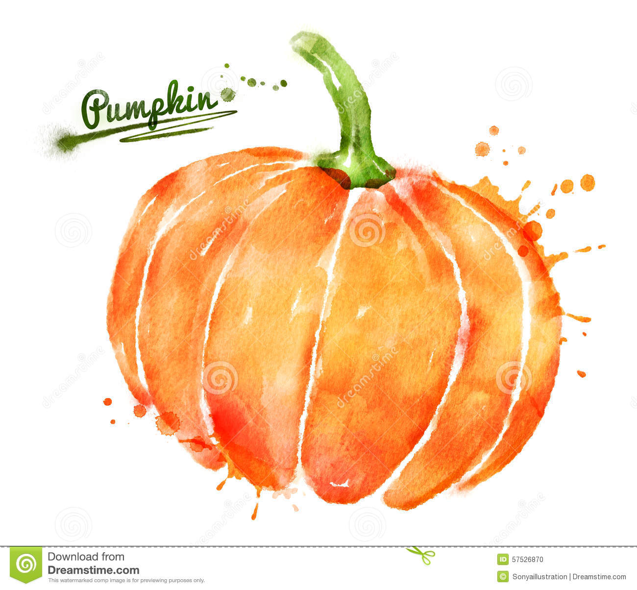 Watercolor pumpkin clipart free - ClipartFest png freeuse download