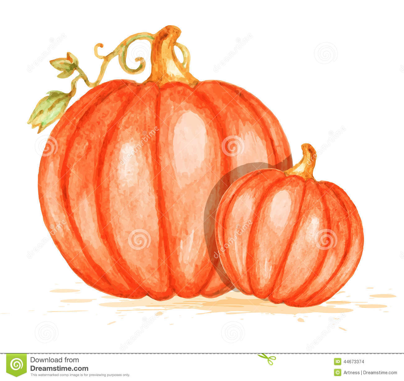 Pumpkin watercolor clipart - ClipartFest image royalty free stock