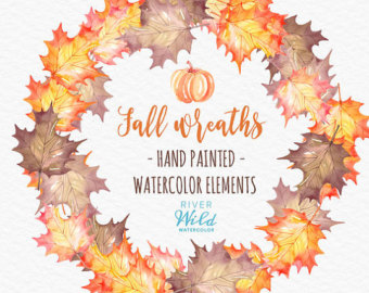 Watercolor Pumpkin Clipart Autumn Fall Watercolor Trendy PNG png royalty free stock