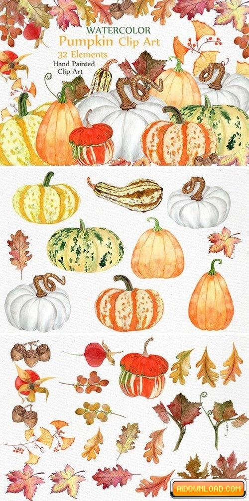 Watercolor pumpkin clipart Free Download - Free Graphic Templates ... svg free download