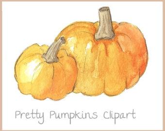 Watercolor Pumpkin Clipart - clipartsgram.com graphic black and white stock