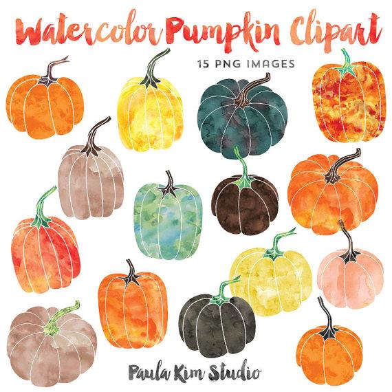 Watercolor pumpkin clipart png - ClipartFest png library