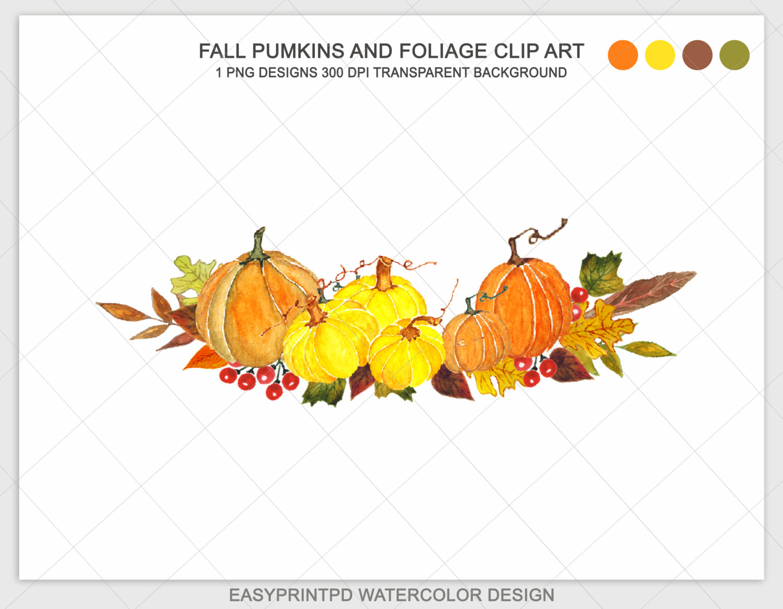 Pumpking Clip Art Watercolor Pumpkins Clipart Autumn clip library library