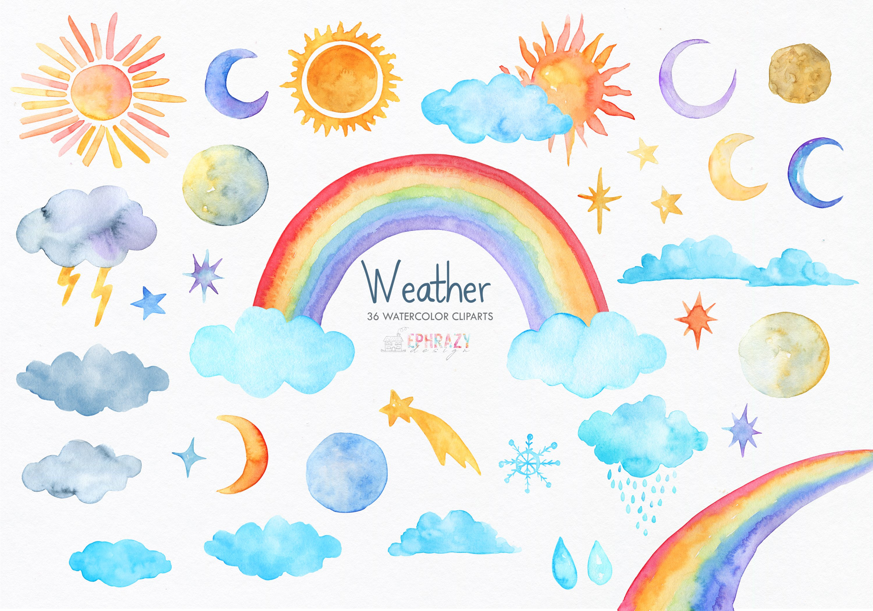Watercolor rainbow clipart clip free download Weather clipart. Rainbow clipart clip free download