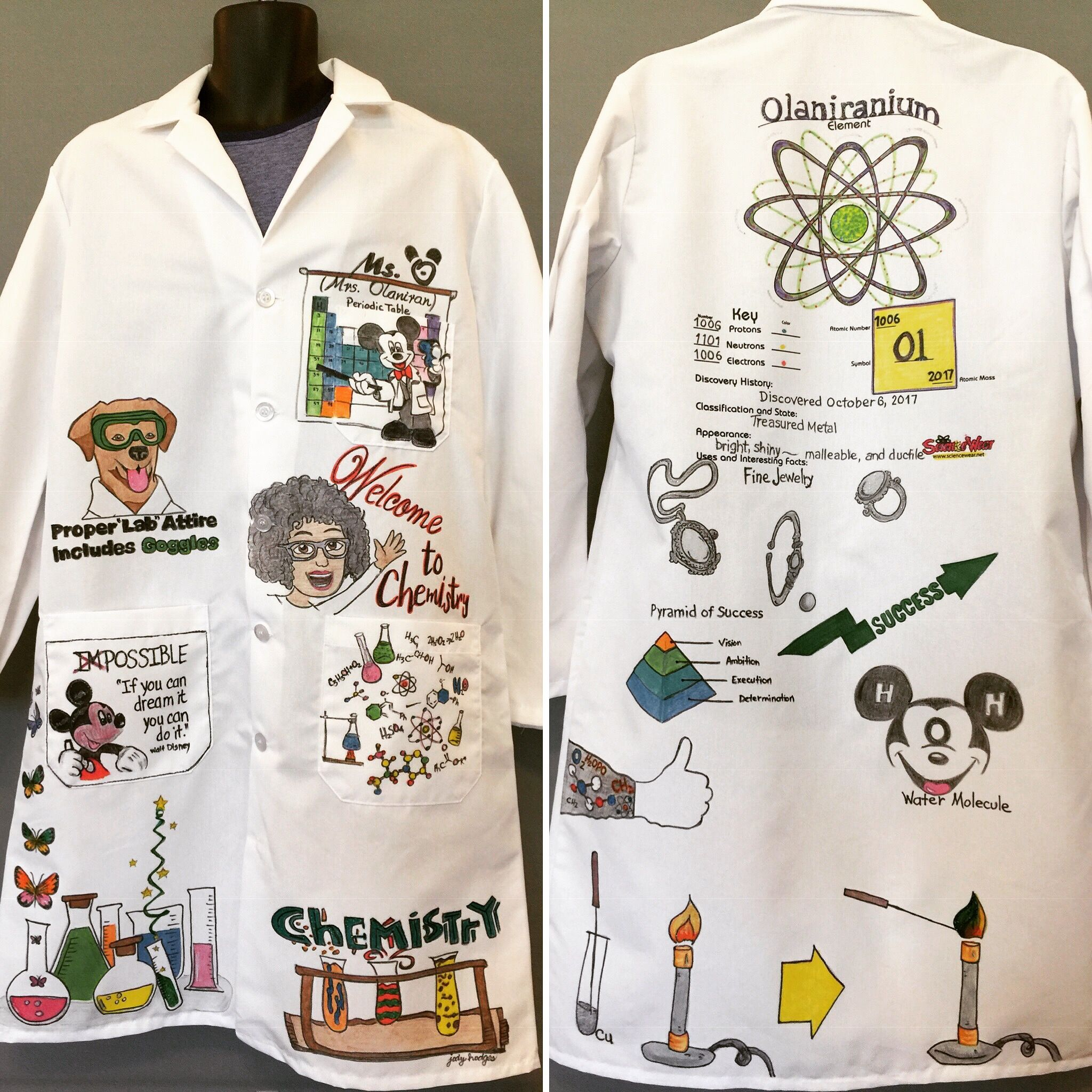 Watercolor science lab coat clipart clipart royalty free download Every great science teacher deserves a personalized, one-of ... clipart royalty free download
