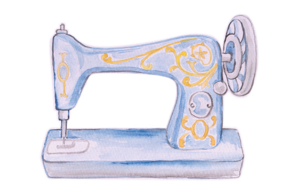 Watercolor sewing machine clipart picture freeuse stock Sewing Machine Watercolor at PaintingValley.com   Explore ... picture freeuse stock