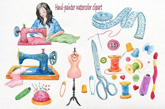 Watercolor sewing machine clipart royalty free download Sewing Machine Clipart,watercolor royalty free download