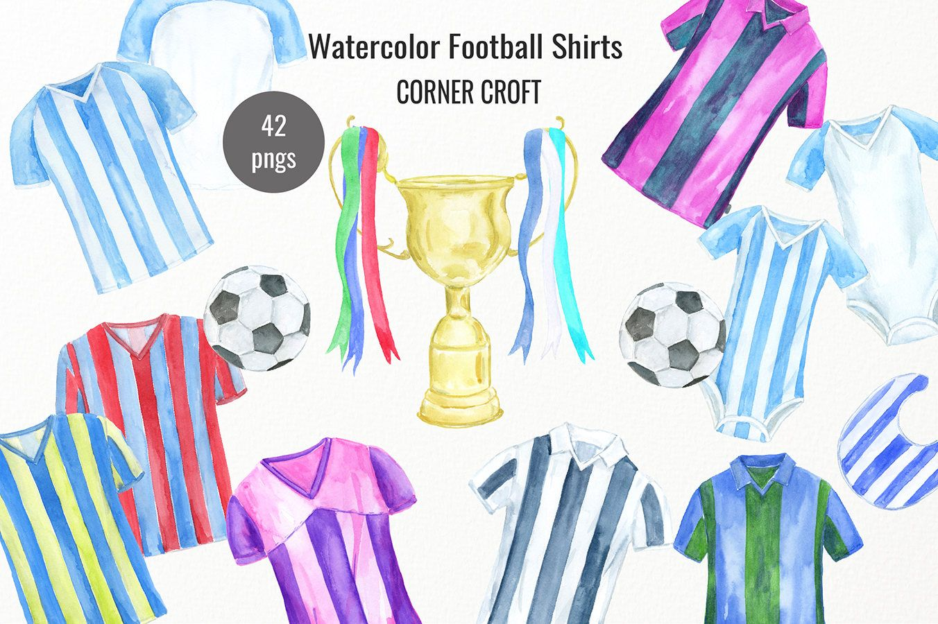 Watercolor shirt clipart image freeuse download Watercolour football shirts, watercolor football clipart ... image freeuse download