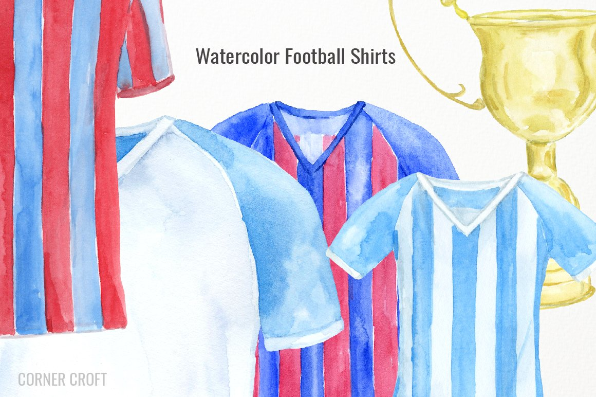 Watercolor shirt clipart picture black and white stock Watercolour football shirt clipart, soccer shirt clipart ... picture black and white stock