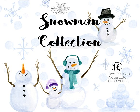 Watercolor snowman clipart image transparent stock Snowman Watercolor Clipart image transparent stock