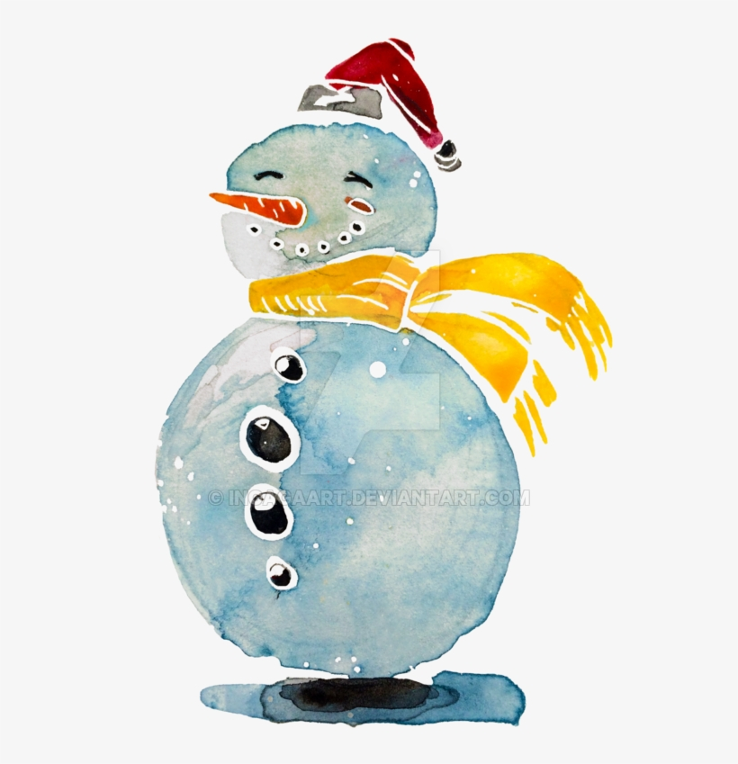 Watercolor snowman clipart jpg transparent library Graphic Transparent Download Snowman Illustration By ... jpg transparent library