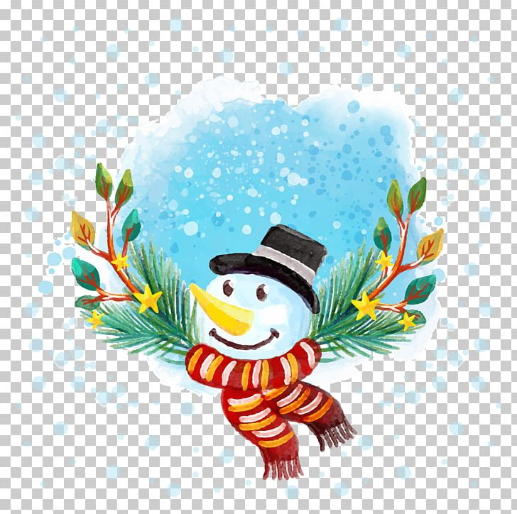 Watercolor snowman clipart image transparent Watercolor Pencil Drawing Christmas Snowman PNG, Clipart ... image transparent