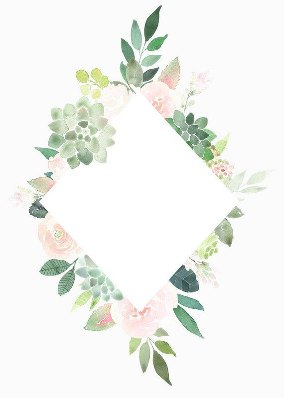 Watercolor succulent border free clipart png library stock Succulents Clipart Frames, Succulent Border, roses frame ... png library stock