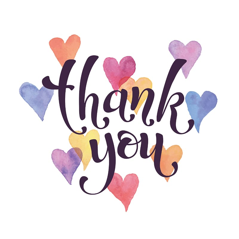 Watercolor thank you clipart transparent library Thank you screenshot, YouTube Heart Watercolor painting ... transparent library