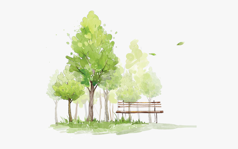 Watercolor trees free clipart royalty free library trees #bench #park #watercolor - Tree Png Watercolor Free ... royalty free library
