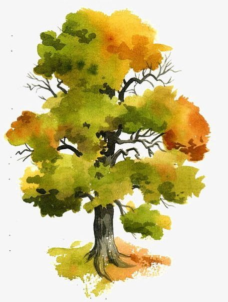 Watercolor trees free clipart graphic Watercolor Trees PNG, Clipart, Branches, Hand, Hand Painted ... graphic