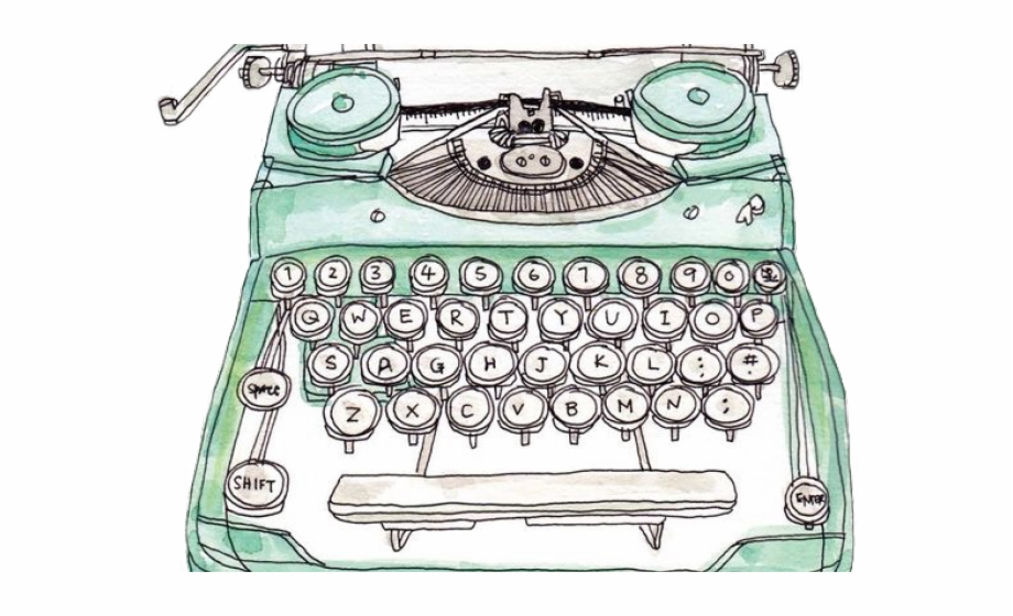 Watercolor typewriter clipart picture transparent stock Typewriter Clipart Watercolor - Watercolor Typewriter Png ... picture transparent stock