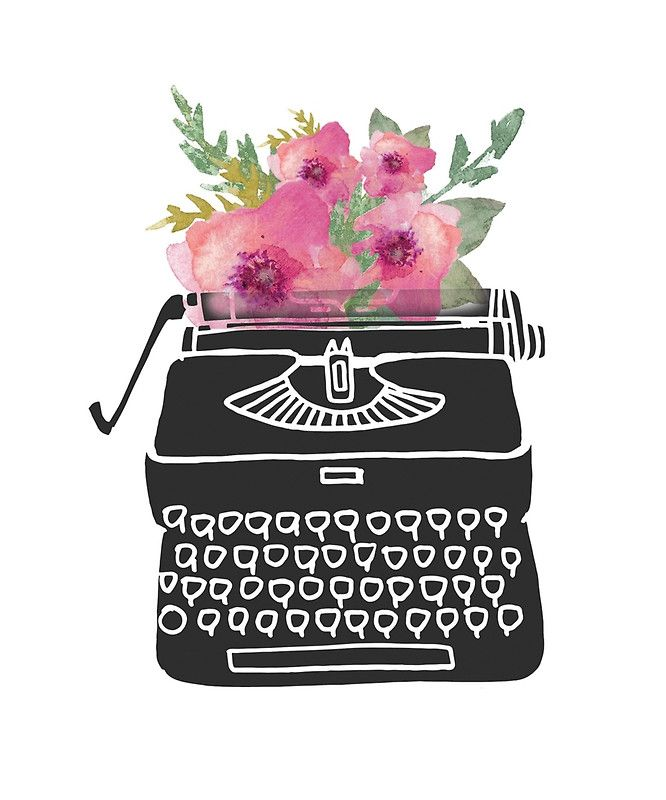 Watercolor typewriter clipart png freeuse Image result for watercolor typewriter | Clipart & Graphics ... png freeuse