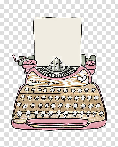Watercolor typewriter clipart graphic freeuse Maquinas de escribir, beige and pink typewriter and printer ... graphic freeuse