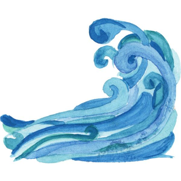 Watercolor wave clipart