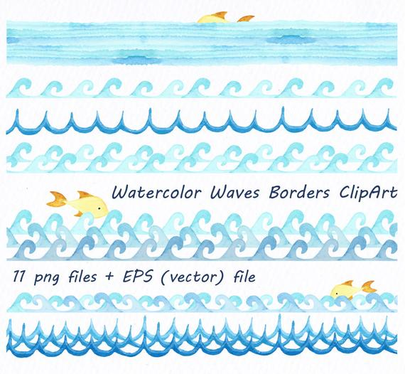 Watercolor wave clipart clip art free stock Watercolor Waves at PaintingValley.com   Explore collection ... clip art free stock