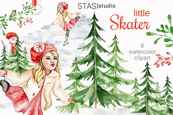 Watercolor winter clipart picture free stock Watercolor Winter Clipart picture free stock