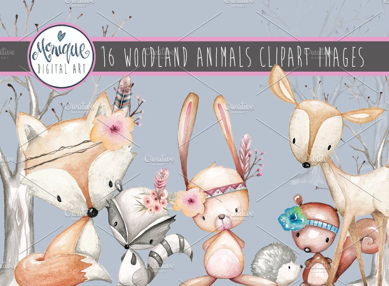 Watercolor woodland animals clipart free clip art royalty free download Woodland Animals Clipart Watercolor clip art royalty free download