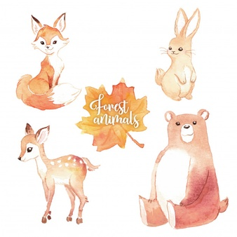 Watercolor woodland animals clipart free clip transparent library Watercolor Animal Vectors, Photos and PSD files | Free Download clip transparent library