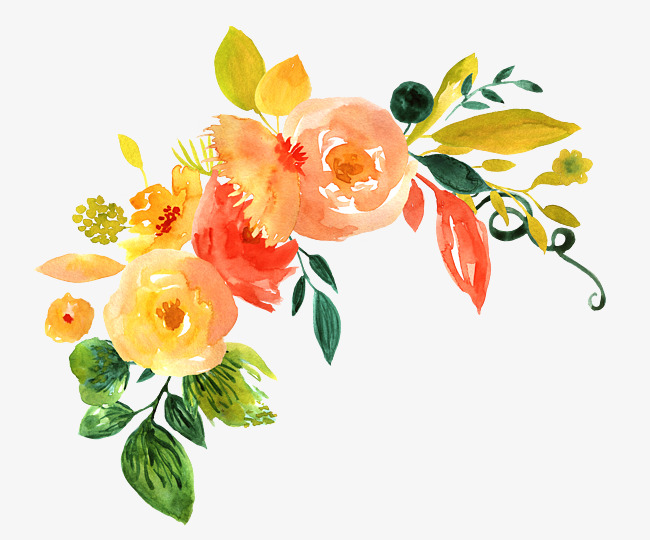 Watercolor yellow spring flowers png clipart vector clip art freeuse download Yellow Watercolor Flowers at PaintingValley.com | Explore ... clip art freeuse download