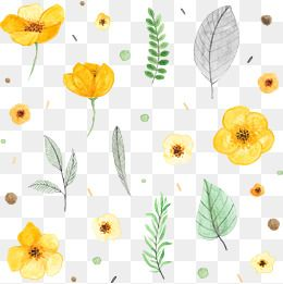 Watercolor yellow spring flowers png clipart vector download Vector Hand-painted Flowers, Vector, Hand Painted ... download