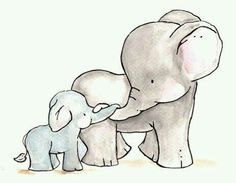 Watercolormomma and baby elephant clipart image 15 Best mom and baby elephant images in 2017 | Elephants ... image
