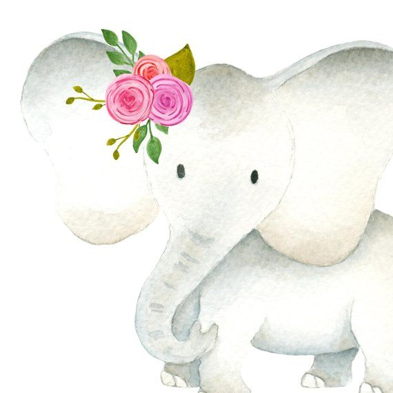 Watercolormomma and baby elephant clipart clip transparent library Cute elephant clipart, Baby & mama elephants clipart set ... clip transparent library