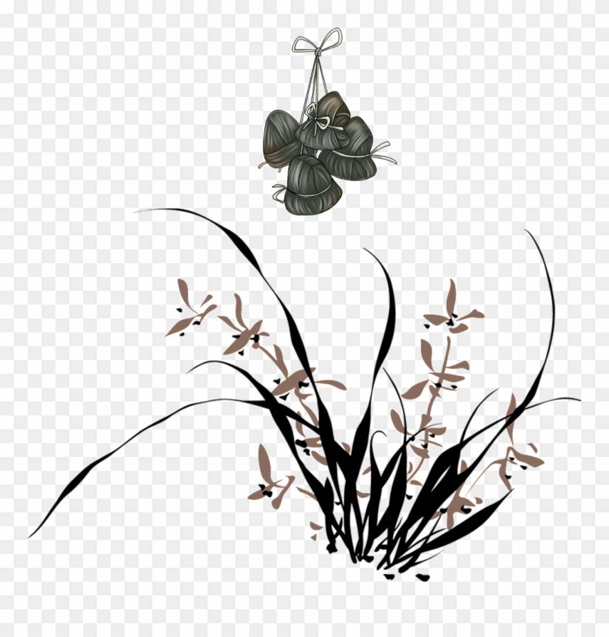 Watercolors clipart black and white image royalty free stock Hand Painted Flowers And Scorpions Hd Png - Watercolor Black ... image royalty free stock