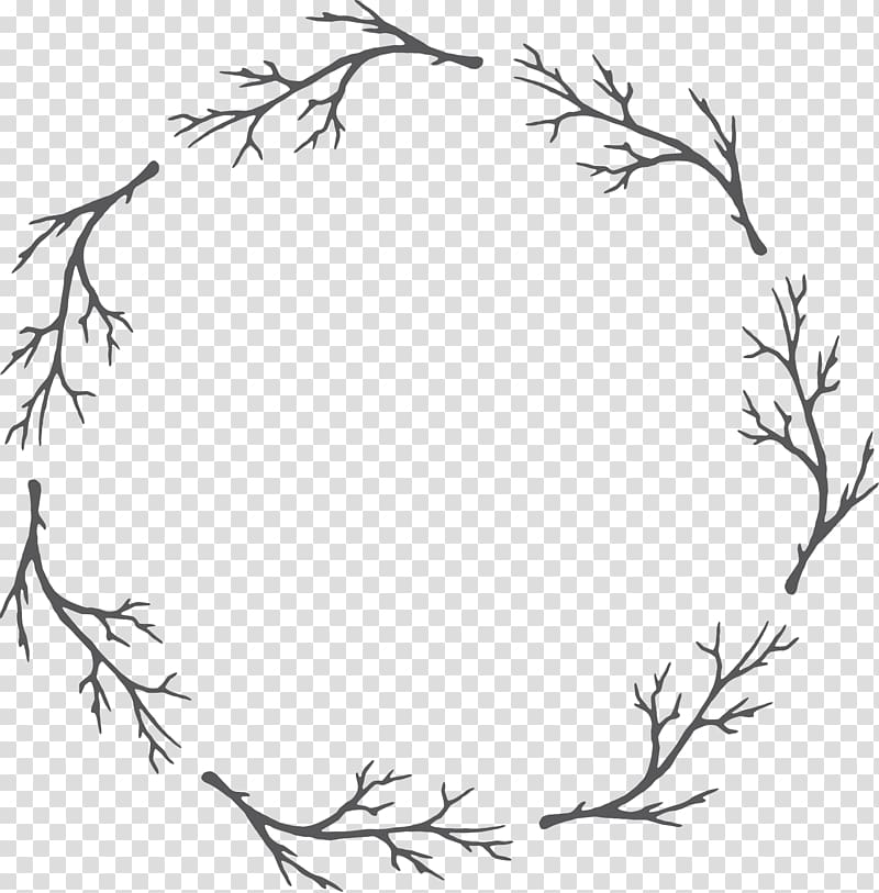 Watercolors clipart black and white clipart library Tree twigs illustration, Black and white Garland Watercolor ... clipart library