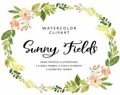 Watercolour clipart to buy clip free 204 Best Watercolor flower clip art images in 2019 ... clip free