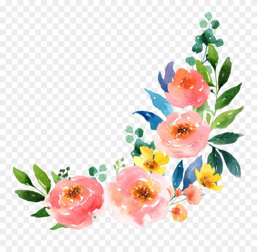 Watercolour flowers clipart clipart free library Paper Watercolour Flowers Watercolor Painting - Watercolor ... clipart free library