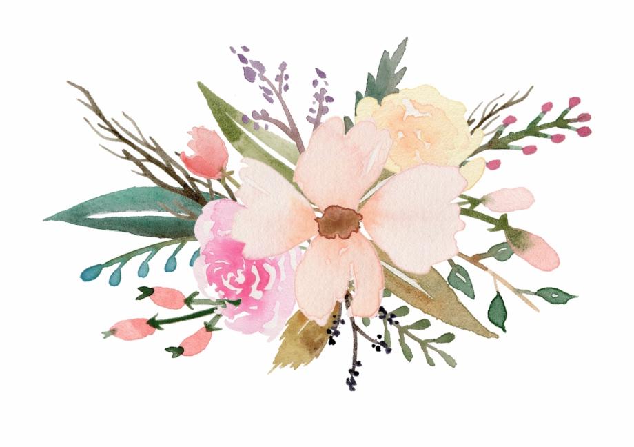 Watercolour flowers clipart jpg freeuse stock Watercolour Flower Clipart Free , Png Download - Clip Art ... jpg freeuse stock