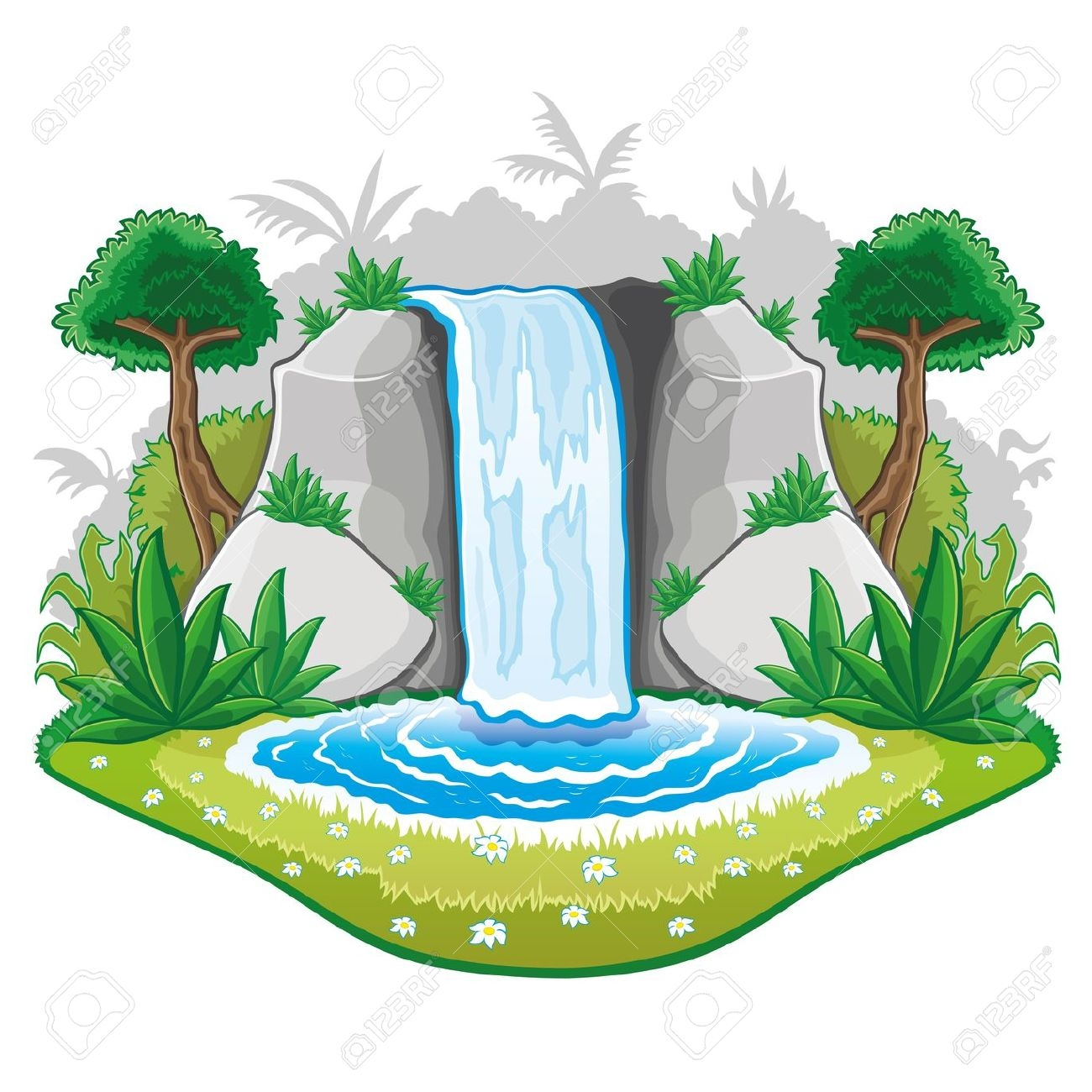 Waterfall clipart picture royalty free stock 75+ Waterfall Clipart | ClipartLook picture royalty free stock