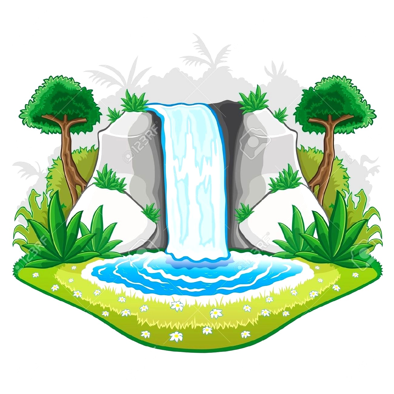 Waterfall image clipart clipart freeuse stock Waterfall clipart » Clipart Station clipart freeuse stock
