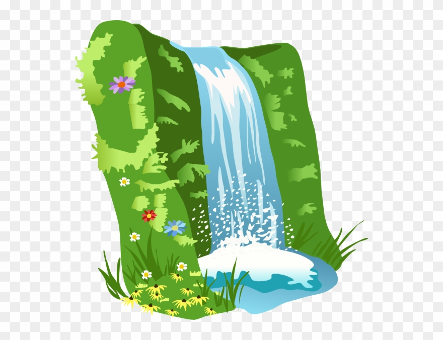 Waterfall clipart clip art free download Mountain Clipart Nature - Waterfall Clipart Transparent ... clip art free download
