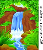 Waterfall image clipart clipart freeuse download Waterfall Clip Art - Royalty Free - GoGraph clipart freeuse download